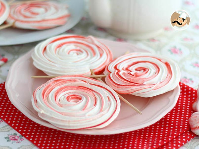 10 . Meringue lollipops
