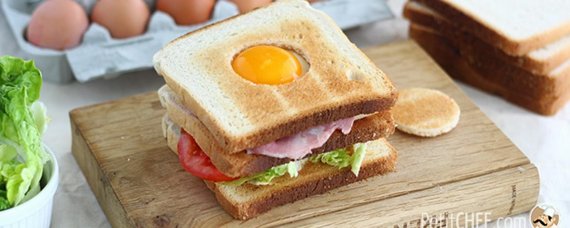 This club sandwich has a surprise in it!