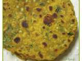 Recipe A rustic dinner with chausela/chickpea flour flatbread