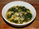 Recipe Spinach stracciatella soup with orzo