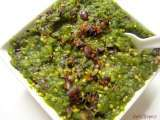 Recipe Hara baingan bharta /spicy mashed roasted eggplant
