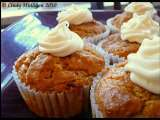 Recipe Pumpkin spice muffins with cream cheese frosting