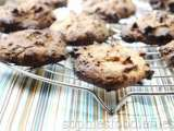 Gluten free triple coconut almond butter cookies+chocolate chips