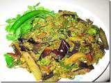 Recipe Brinjal with coconut and coriander