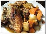 Recipe Rosemary sage roasted chicken breast with root veg. and stuffing