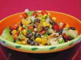 Recipe Corn, black beans and avocado salad