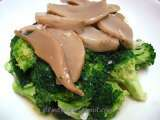Recipe Stir-fry broccoli with ' abalone mushrooms '