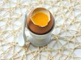 Recipe Coconut panna cotta with mango and orange eggs