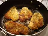 Recipe Cauliflower au gratin w/panko crusted flounder