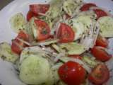 Recipe Aunt peggy's cucumber, tomato and onion salad