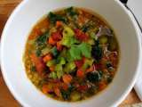 Recipe Red lentil vegetable soup recipe