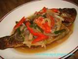 Recipe Tilapia in oyster sauce and veggies - escabeche style
