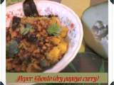 Recipe Peper ghonto (raw papaya curry)