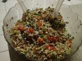 Recipe Sprouted moong bean salad.