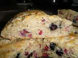 Recipe Low fat pomegranate blueberry scones