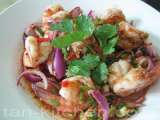 Recipe Larb goong (spicy shrimp salad)