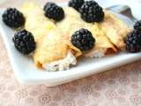 Recipe Coconut flour crepes with lemon ricotta and blackberries (low carb and gluten free)