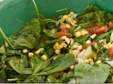 Recipe Spinach, tomato, and corn salad