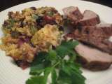 Recipe Cooking light with rachael ray: toasted cornbread, bacon and chestnut stuffing