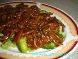 Recipe Beef with broccoli in oyster sauce