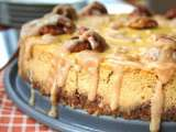 Recipe Pumpkin bourbon cheesecake with spiced pecan crust (low carb and gluten free)