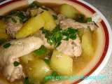 Recipe Tinola or tinolang manok (chicken stewed with ginger & green papaya)