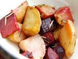 Recipe Marinated herbed baked potatoes, beets and carrots