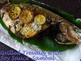 Recipe Grilled trevally with soy sauce sambal