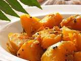 Recipe Fried pumpkin: indian style