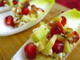 Recipe Appetizing appetizer: bacon, blue cheese & pomegranate endive spears