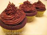 Recipe Chocolate cupcake with ovaltine buttercream frosting