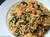 Recipe Happy new year- palak pulao( spicy greens rice)