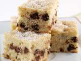 Recipe Chocolate chip banana blondie cake