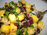 Recipe Caribbean black bean and pineapple salad