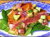 Recipe Seared ahi tuna with blood orange and avocado salsa