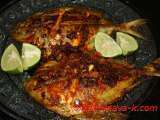 Recipe Spicy grilled black pomfret (bawal hitam)