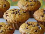 Recipe Gluten/dairy-free chocolate chip pumpkin (& vegan) muffins
