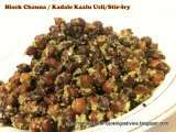 Recipe Black channa/kadale kaalu/kaala channa/black garbanzo beans stir-fry with quinoa