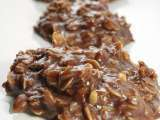 Recipe No-bake chocolate, peanut butter & oatmeal cookies (cow patties)