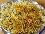 Recipe Veg biryani and cabbage, onion, tomato upma