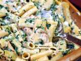 Recipe Grilled chicken rigatoni florentine