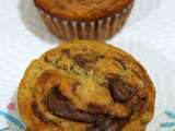Recipe Eggless nutella filled banana muffins