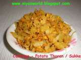 Recipe Cabbage sukke / cabbage thoran