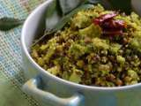 Broccoli-mung bean thoran