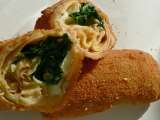 Recipe Recipe: fried pancakes stuffed with spinach and camembert cheese!