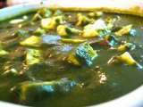 Recipe Palak paneer (spinach with cheese)