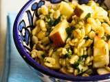 Healthy apple-barley salad