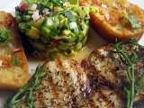 Recipe Grilled swordfish with avocado-salsa