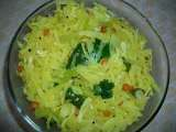 Recipe Cabbage poriyal