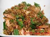 Recipe Fried prawns with oats and pandan leaves